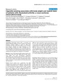 """Báo cáo y học: """" Cigarette smoking associates with body weight and muscle mass of patients with rheumatoid arthritis: a cross-sectional, observational study"""""""