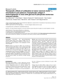 """Báo cáo y học: """"Therapeutic effects of antibodies to tumor necrosis factor-α, interleukin-6 and cytotoxic T-lymphocyte antigen 4 immunoglobulin in mice with glucose-6-phosphate isomerase induced arthritis"""""""