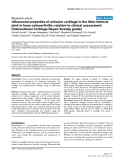 """Báo cáo y học: """"Ultrasound properties of articular cartilage in the tibio-femoral joint in knee osteoarthritis: relation to clinical assessment (International Cartilage Repair Society grade)"""""""