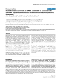 """Báo cáo y học: """"Raised intrathecal levels of APRIL and BAFF in patients with systemic lupus erythematosus: relationship to neuropsychiatric symptoms"""""""