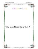 Tiểu luận Ngân Hàng Việt Á
