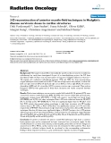 "Báo cáo khoa học: "" 3-D reconstruction of anterior mantle-field techniques in Hodgkin's disease survivors: doses to cardiac structures"""