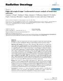 """Báo cáo khoa học: """"  High-risk surgical stage 1 endometrial cancer: analysis of treatment outcome"""""""