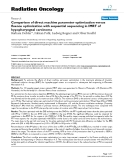 """Báo cáo khoa học: """" Comparison of direct machine parameter optimization versus fluence optimization with sequential sequencing in IMRT of hypopharyngeal carcinoma"""""""
