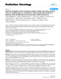 """Báo cáo khoa học: """"A phase I radiation dose-escalation study to determine the maximal dose of radiotherapy in combination with weekly gemcitabine in patients with locally advanced pancreatic adenocarcinoma"""""""