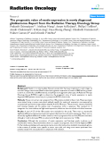 """Báo cáo khoa học: """" The prognostic value of nestin expression in newly diagnosed glioblastoma: Report from the Radiation Therapy Oncology Group"""""""