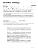 "Báo cáo khoa học: ""Fluoroethyltyrosine- positron emission tomography-guided radiotherapy for high-grade glioma"""