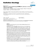 """Báo cáo khoa học: """"High-dose rate brachytherapy (HDRB) for primary or recurrent cancer in the vagina"""""""