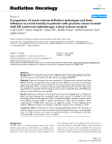 """Báo cáo khoa học: """" Comparison of rectal volume definition techniques and their influence on rectal toxicity in patients with prostate cancer treated with 3D conformal radiotherapy: a dose-volume analysis"""""""