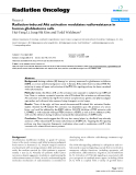 "Báo cáo khoa học: "" Radiation-induced Akt activation modulates radioresistance in human glioblastoma cells"""