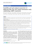 """Báo cáo khoa học: """" Feasibility and early clinical assessment of flattening filter free (FFF) based stereotactic body radiotherapy (SBRT) treatments"""""""