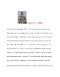 Danh nhân lịch sử: Lê Lợi