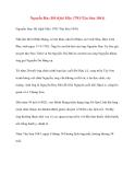 Danh nhân lịch sử: Nguyễn Huy Hổ