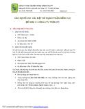 CÁC SỰ CỐ KHI CÀI ĐẶT SỬ DỤNG PHẦN MỀM VLC ĐỂ XEM 51 KÊNH iTV TRÊN PC