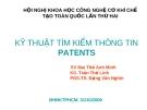 Kỹ thuật tìm kiếm thông tin patents