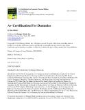 A+ Certification for Dummies 2nd phần 1