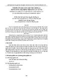 NGHIÊN CỨU KHẢ NĂNG HẤP THỤ CRÔM (Cr) TRONG NƯỚC THẢI BỆNH VIỆN BẰNG CÂY CỎ VOI