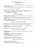 ĐỀ CƯƠNG ÔN TẬP HKI – NĂM 2010 – 2011 MÔN HOÁ HỌC 12