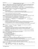 ĐỀ THI THỬ HỌC KỲ I (10-11)