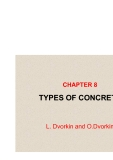 BASICS OF CONCRETE SCIENCE - CHAPTER 8