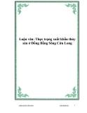 Luận văn: Thực trạng xuất khẩu thủy sản ở Đồng Bằng Sông Cửu Long