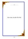 Giáo trình chi tiết về HTML