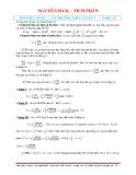 Bài tập Toán: Nguyên hàm - tích phân