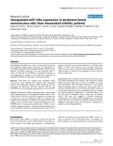 "Báo cáo y học: ""Upregulated miR-146a expression in peripheral blood mononuclear cells from rheumatoid arthritis patients"""