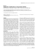 """Báo cáo y học: """"Epigenetic modifications in rheumatoid arthritis"""""""