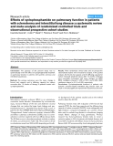 """Báo cáo y học: """" Effects of cyclophosphamide on pulmonary function in patients with scleroderma and interstitial lung disease: a systematic review and meta-analysis of randomized controlled trials and observational prospective cohort studies"""""""