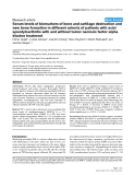 "Báo cáo y học: ""Serum levels of biomarkers of bone and cartilage destruction and new bone formation in different cohorts of patients with axial spondyloarthritis with and without tumor necrosis factor-alpha blocker treatment"""