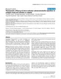 """Báo cáo y học: """"Therapeutic efficacy of intra-articular adrenomedullin injection in antigen-induced arthritis in rabbits"""""""