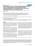 """Báo cáo y học: """"Rheumatoid cachexia is associated with dyslipidemia and low levels of atheroprotective natural antibodies against phosphorylcholine but not with dietary fat in patients with rheumatoid arthritis: a cross-sectional study"""""""