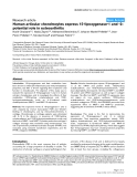 """Báo cáo y học: """"Human articular chondrocytes express 15-lipoxygenase-1 and -2: potential role in osteoarthritis"""""""