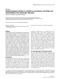 """Báo cáo y học: """"Epidemiological studies in incidence, prevalence, mortality, and comorbidity of the rheumatic diseases"""""""