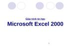 Giáo trình môn Microsoft Excel