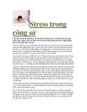 Stress trong công sở