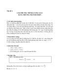 Vấn đề 1: GIẢI PHƯƠNG TRÌNH LƯỢNG GIÁC BẰNG PHƯƠNG PHÁP ĐỔI BIẾN