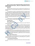 Đề bài: Tìm hiểu cảm nhận của Nguyễn Khoa Điềm qua nhiều phương diện trong