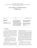 Uncertainty and Dimensional Calibration Episode 1