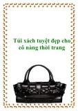 Túi xách tuyệt đẹp cho cô nàng thời trang