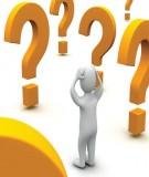 Một số câu hỏi tình huống sư phạm