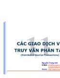 CÁC GIAO DỊCH VÀ TRUY VẤN PHÂN TÁN(Distributed Queries Transactions)