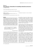 """Báo cáo y học: """"The quest for a biomarker of circulating osteoclast precursors"""""""