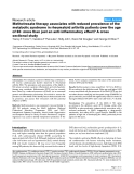 "Báo cáo y học: ""Methotrexate therapy associates with reduced prevalence of the metabolic syndrome in rheumatoid arthritis patients over the age of 60- more than just an anti-inflammatory effect? A cross sectional study"""