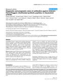 "Báo cáo y học: ""Diagnostic and prognostic value of antibodies against chimeric fibrin/filaggrin citrullinated synthetic peptides in rheumatoid arthritis"""