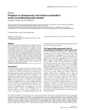 """Báo cáo y học: """"Progress in osteoporosis and fracture prevention: focus on postmenopausal women"""""""