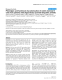"""Báo cáo y học: """"Phenotypic and functional characterization of switch memory B cells from patients with oligoarticular juvenile idiopathic arthritis"""""""