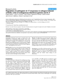 "Báo cáo y học: ""Regulation of pathogenic IL-17 responses in collagen-induced arthritis: roles of endogenous interferon-gamma and IL-4"""
