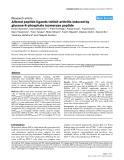 "Báo cáo y học: ""Altered peptide ligands inhibit arthritis induced by glucose-6-phosphate isomerase peptide"""